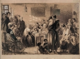 Elizabeth Fry reading the bible to convict women at Newgate - National Library of Australia Collection